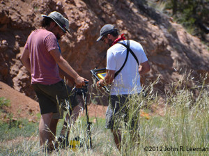 Students Using GPR to Survey an Area in Colorado